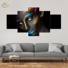 5 Pieces/set canvas art new Fashion Panel Skull HD Canvas Printings Decoration for home Poster Giclee Print Painting