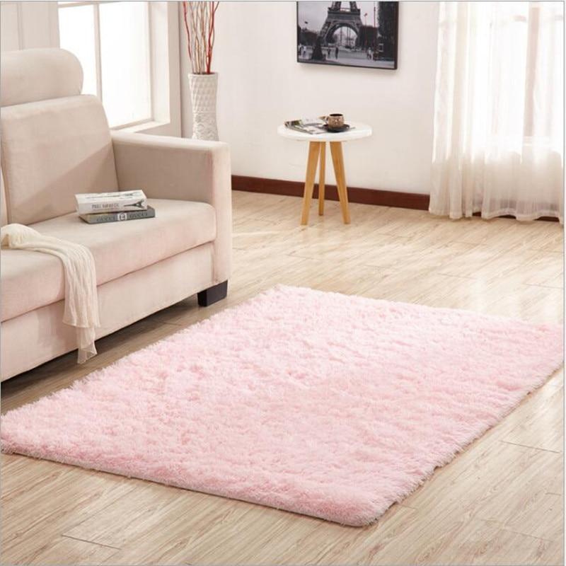 Nouveau! Livraison gratuite 120 cm * 130 cm élégant couleur unie tapis de maison tapis