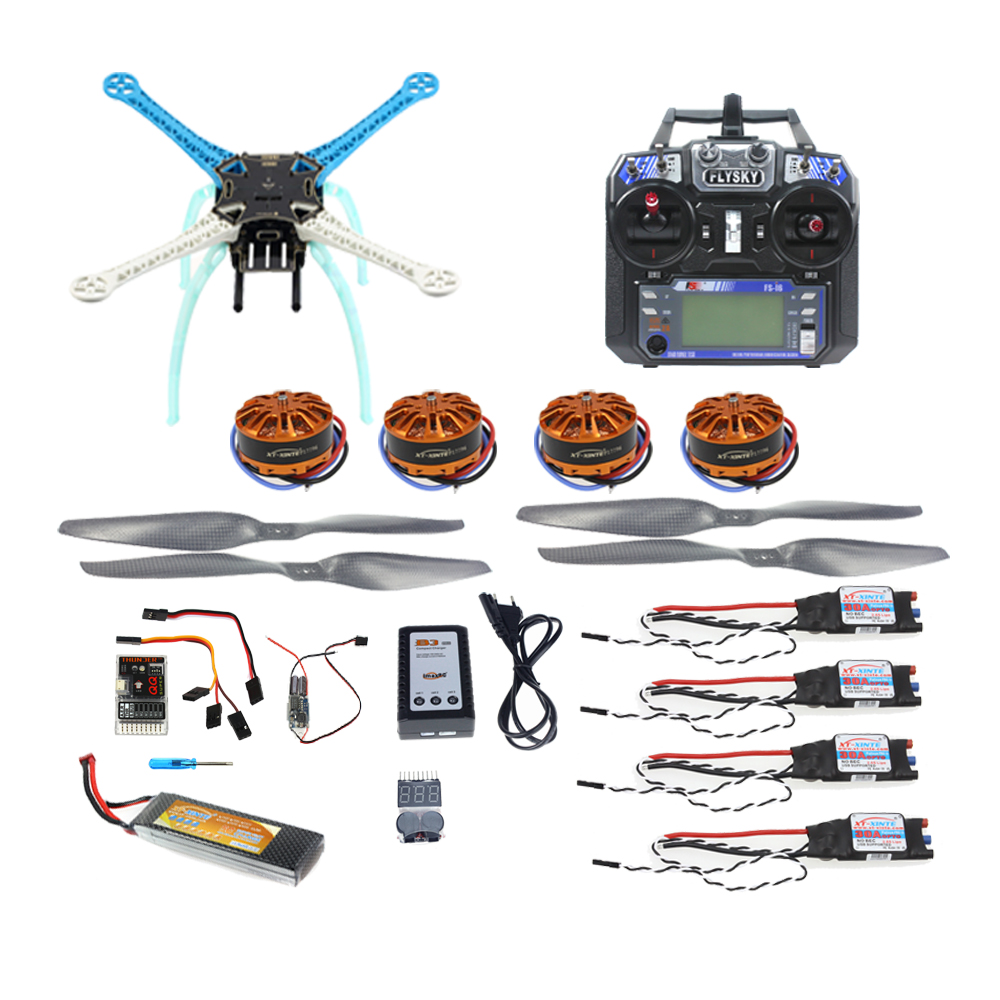 JMT DIY Drone Multicopter 500mm Multi-Rotor QQ Super Flight Controller with 700KV Motor 30A ESC 6CH Remote control