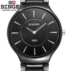 Image 5 - Suisse marque de luxe hommes montres bracelets Binger espace céramique Quartz montre pour hommes amoureux style résistance à leau horloge B8006B 5