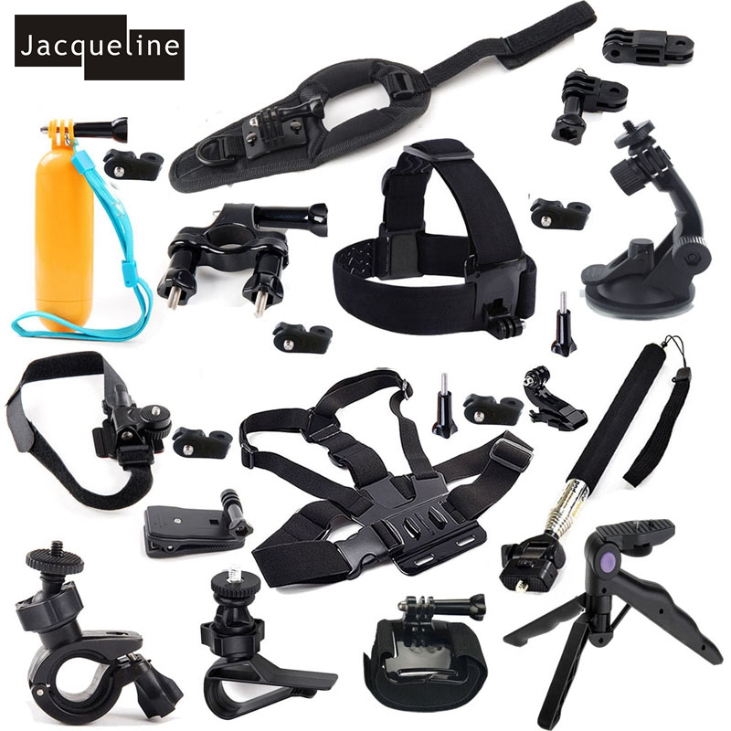 JACQUELINE for All-in-1 Accessories Set Kit for Sony Action Cam FDR-X1000V W 4K HDR-AS30V AS50 AS200V HDR-AS100V HDR-AZ1 Mini dz chm1 clip head mount kit for sony action camera fdr x1000v hdrr as200v hdr az1vr hdr as100v