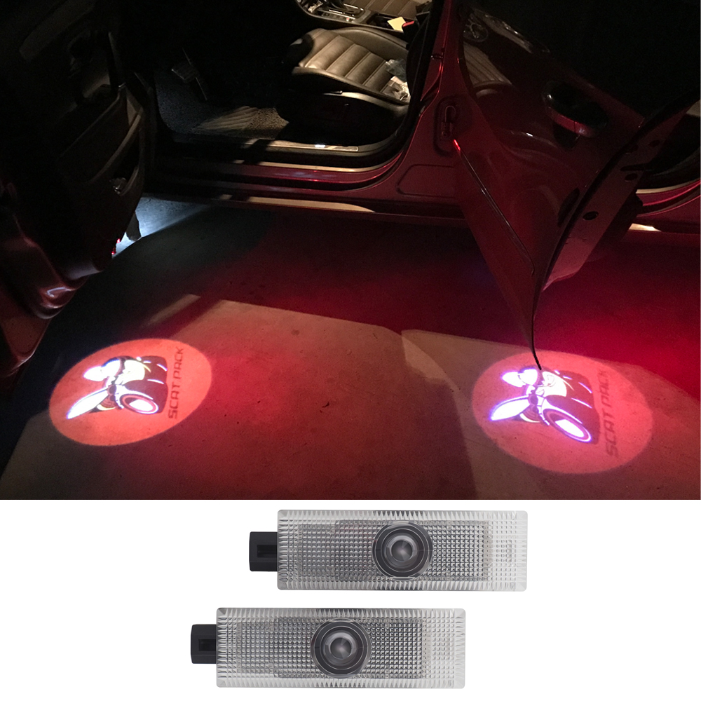 1 Pair Auto Tuning Accessories LED Car Door Light For Dodge Ram 1500 Joury Caliber Durango Caravan LED Car Ghost Shadow Light in Signal Lamp from Automobiles Motorcycles