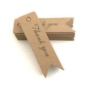 Image 4 - 100Pcs Kraft Papier Ornament Label Prijs Tags Wedding Christmas Party Favor Gift Card Goederen Bagage Tags Verpakking Labels