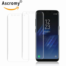 Ascromy 10PCS For Samsung Galaxy S8 S 8 Screen Protector Film Full Cover HD Clear Accessories ecran protection pantalla pelicula(China)