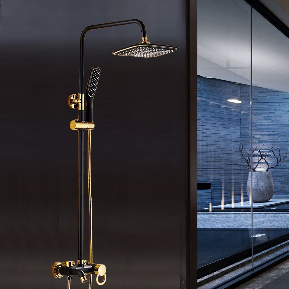 Bathroom Shower Set Chrome Brushed Nickel ORB Rainfall Shower Faucet Hand Shower Sprayer Mixer Tap цены