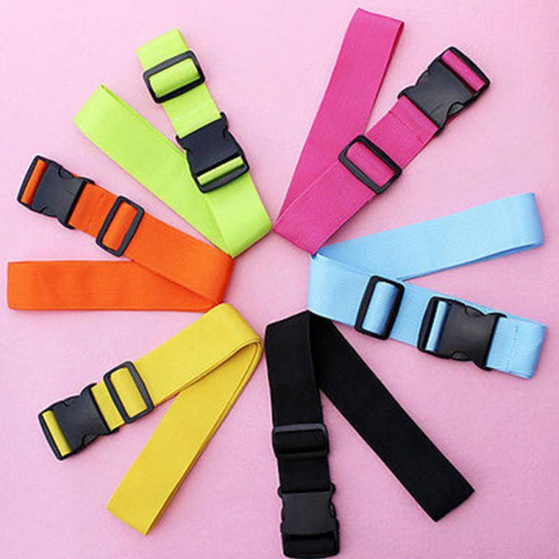 все цены на Top Quality Colorful Adjustable Nylon Lock Travel Luggage Straps Belt Protective Travel Accessories Suitcase Packing Belt онлайн