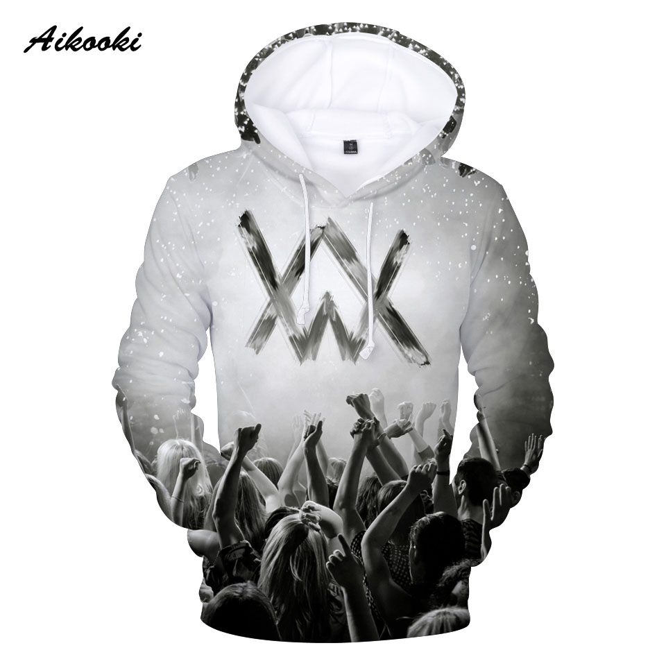 d0bebbff4f0e8 Aikooki Alan Walker 3D Hoodies Men/Women Hoody Sweatshirts 3D Print Music  Fans Idols Hooded Boys/Girls Cotton Polluvers Tops