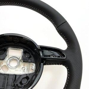 Image 4 - NoEnName_Null dla Audi A3 A4 A5 A6 A7 Q3 Q5 Q7 w pełni perforowana kierownica płaska podeszwa kierownica kampania
