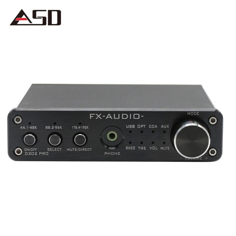 ASDFX-Audio D302PRO Digital Audio Amplifier Input USB/Coaxial/Optical/AUX 20W+20W Support 24Bit/192KHz DC15V/4A Power STA369BW fx audio d302 hifi pure digital amplifier 30w 2 192khz 24bit coaxial fiber optics usb input ta2024 ta2021 dc15v 4a power supply