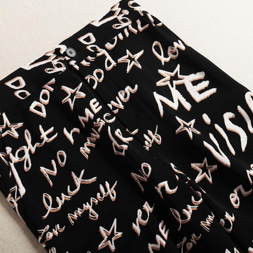 Manches Soie Blouse Pièces Mousseline À Cou Deux Scission Costumes Printemps Longues En Ensemble Haute Formelle 2019 De Pantalon Femmes V Ol Noir Taille aF6nvq8w