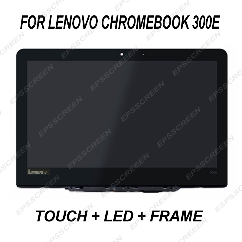 replace 11 6 display for Lenovo Chromebook 300E touch LCD frame 30 pin HD digitizer panel