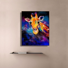 Watercolor Giraffe Animals Print Canvas Home Decor Wall Art Oil Painting Picture Postesr for Living Room Bedroom Decoration