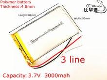 Batterie lithium polymère 3.7 v, 3000 mah, 485389, livraison gratuite, alimentation mobile, tablette 7 pouces