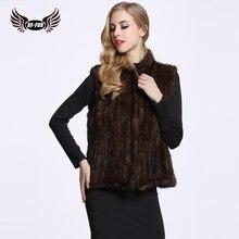 BF FUR 2017 Spring Autumn Coat Women Import Knitted Mink Fur Vest High-Grade Fur Coat Leisure Shitsuke Women Coat BF-V0004