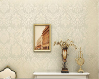 High Quality European Damascus Relief 3D Wallpaper Mural Modern Home Interior White Beige Paper Roll Papel