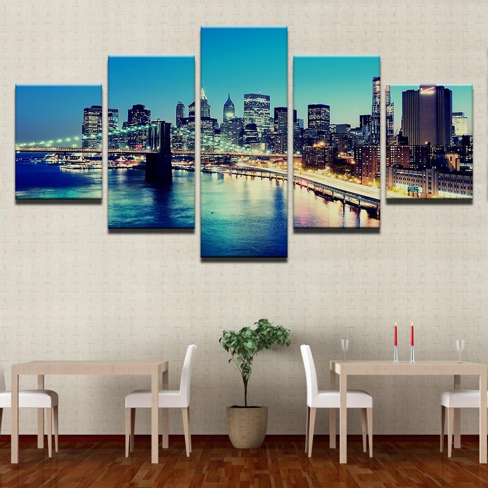 Decoración del hogar arte de la pared pintura lienzo para sala 5 ...
