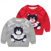 סוודר קטיפה בני תינוק ילדי פלאפי ילדי עיצוב קריקטורה יפה כותנה סוודר ללבוש זה בגדים לשמור סוודרים חמים 1-8 Y