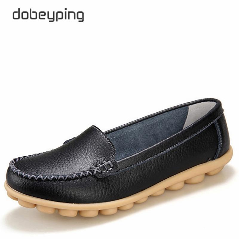 Zapatos ocasionales de las mujeres de cuero genuino suave mocasines - Zapatos de mujer - foto 6
