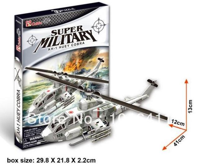 AH-1 HUEY COBRA CubicFun 3D educational puzzle Paper & EPS Model Papercraft Home Adornment for christmas gift