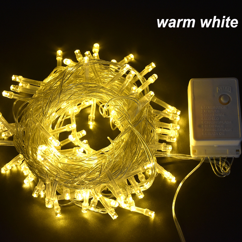 6m 10m 20m 30m 50m 100m Outdoor String Lights Led Garland String Fairy Light 8 Mode Christmas Light Holiday Wedding Decoration