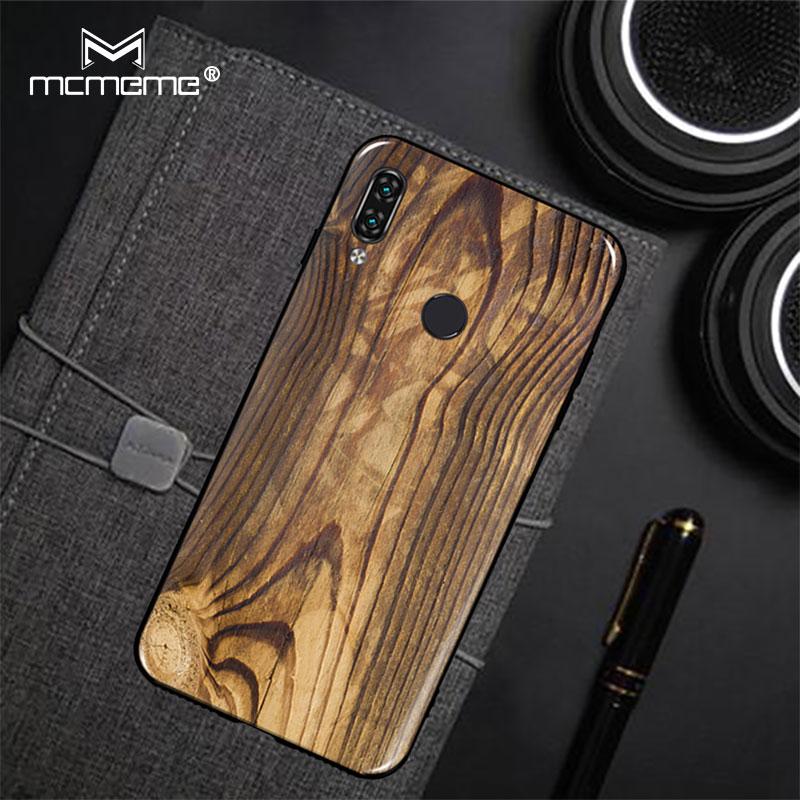 Wood Grain For Lenovo S5 Pro Case Lenovo K5 Pro Cover Soft TPU Silicone Fashion Painting For Lenovo K5 Pro S5Pro Case Fundas