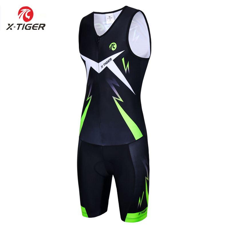 X Tiger Triathlon Cycling Jersey Sponge Padded Cycling Skinsuit Men Women MTB Road Bike Jersey Downhill