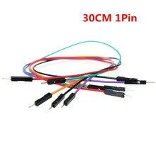 Livre shipping30cm 1pin 50 pice/lote 2.54mm awg26 fios jumper tábua de pão cabos m + m, fêmea para homem, e f + f dupont cabo