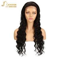 Joedir волос Синтетические волосы на кружеве натуральные волосы парики глубокая волна натуральные волосы Синтетические волосы на кружеве пар