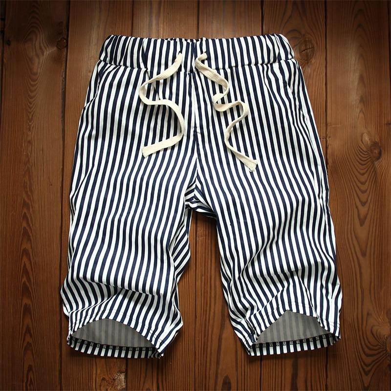 American Brand Cotton Elastic Waist Summer Beach Men Black and ...