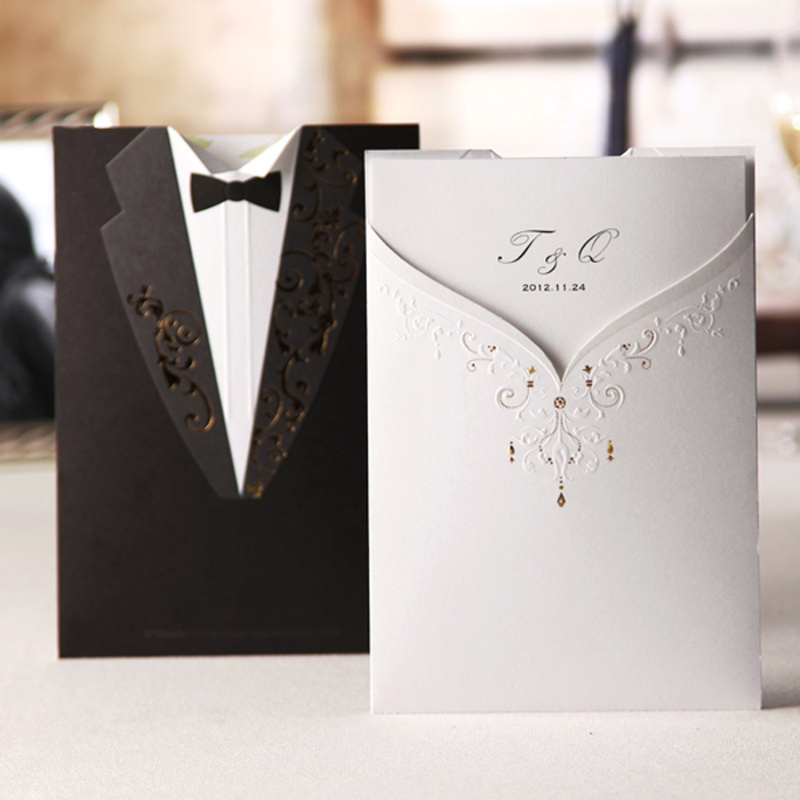 aliexpress : buy personalized groom & bride free personalized, Wedding invitations