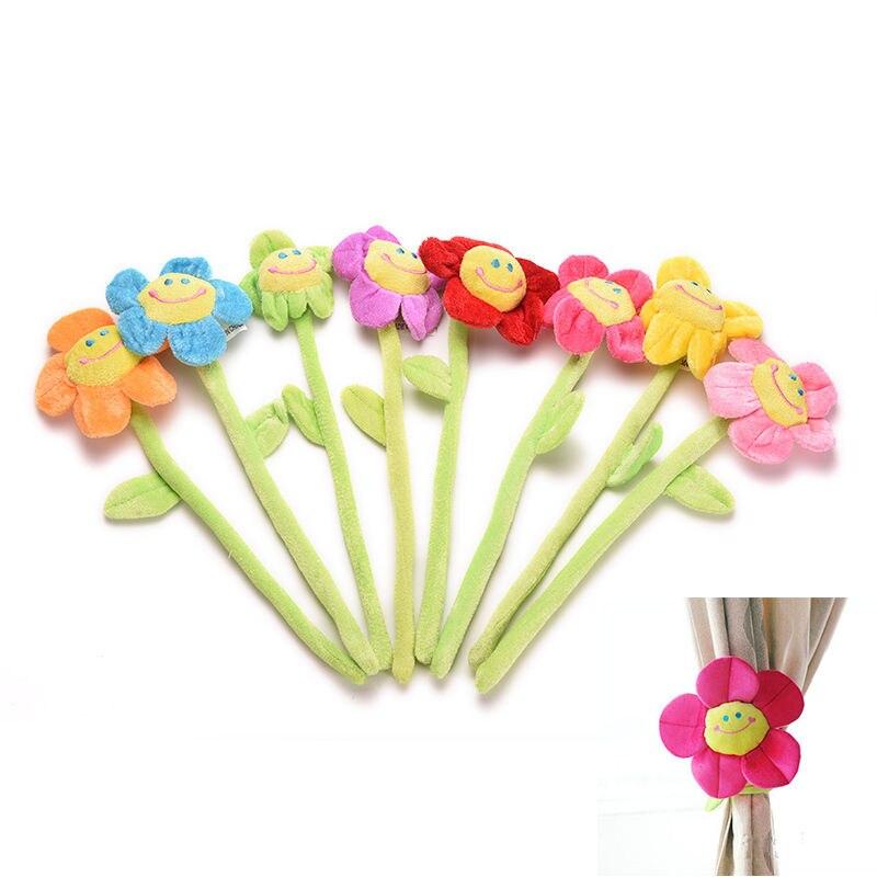 Wedding Gifts For Relatives: 1Pcs Long Cartoon Flower Sunflower Curtain Buckle Hook