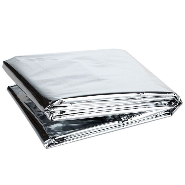 1 pcs outdoor emergency blanket First Aid rescue survival kit gear camping mat Foil Thermal gold/ silver