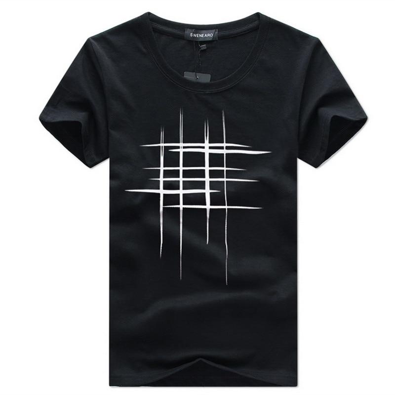 2019 Naujas laiškas Spausdinti marškinėliai Vyriški juodi ir - Vyriški drabužiai - Nuotrauka 3