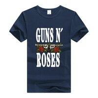 TEEWINING Guns N Roses Logo T-shirt Rock Band Tee mannen Vrouwen T-Shirt Katoen Tshirt Geweren En Rozen GNR Kleding Top