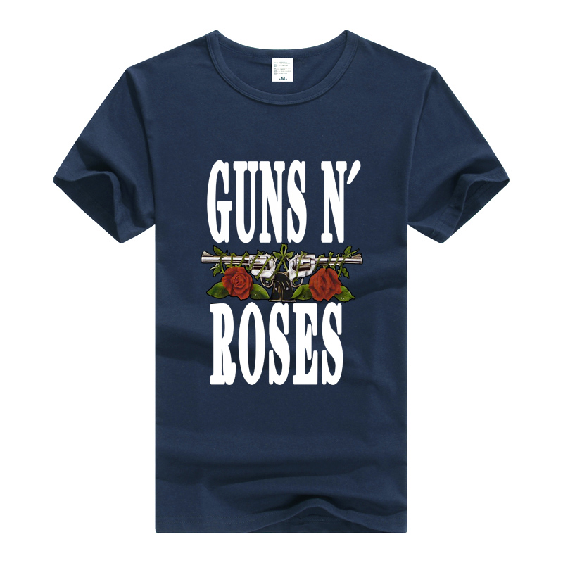 TEEWINING Guns N Roses Logo T Shirt Rock Band Tee Men Women T-Shirt Cotton Tshirt Guns And Roses GNR Clothing Top