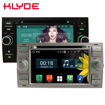 Octa Core 4G Android 8.1 4GB RAM 64GB ROM Car DVD Player Radio Stereo For Ford Fiesta Transit Focus Fusion Connect Mondeo S-MAX