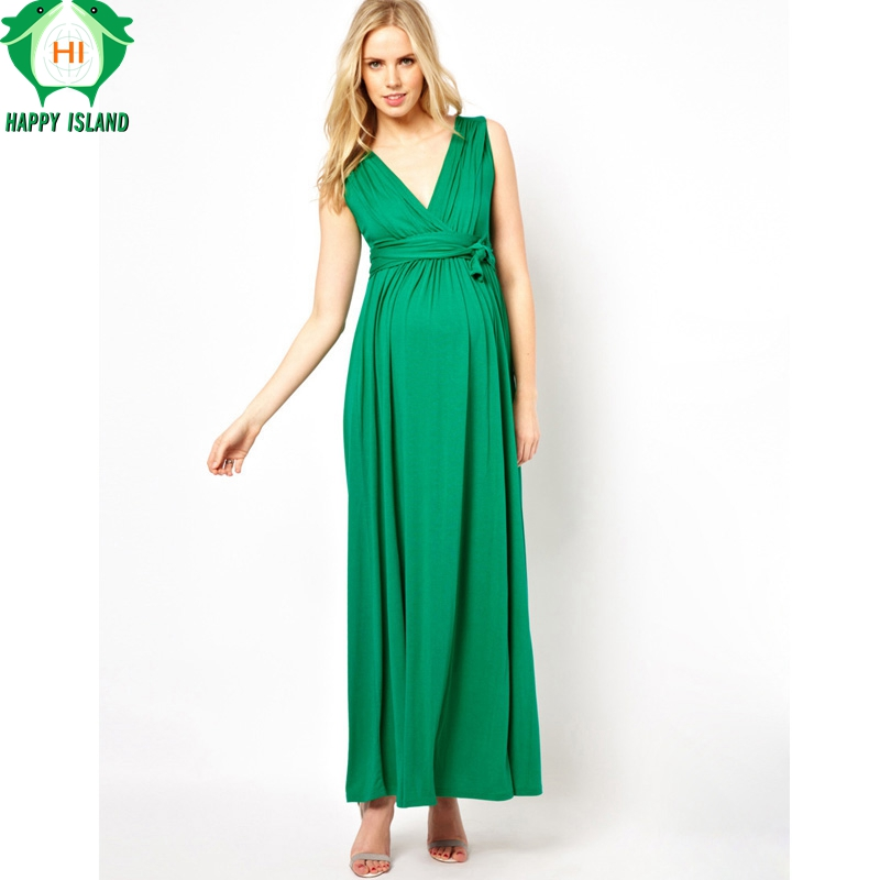 Happy Lovely Brand Maternity Clothes V-Neck Long Evening Gowns Dress For Pregnant Women Pregnancy Prom Dress Red Green Vestidos brand maternity clothes elastic maternity dress nice evening party dress for pregnant women elegant spring lady vestidos