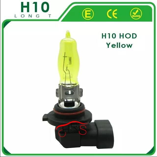 2 x 12V 3000K 42W Golden Yellow H10 HOD Auto Car Halogen Bulbs Lamps Headlight Fog Light Bulbs