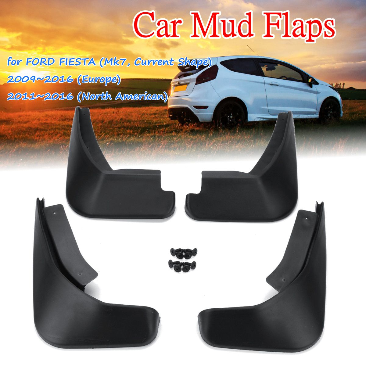 Best Buy 4pcs Car Front Rear Mud Flaps Mudguards Fender Flares Module Mini 360 Dc Buck Converter Step Down 475v 23v To 1v 17v 17x11x38mm Mini360 New Lm2596 Splash Guards For Ford Fiesta Hatchback 2009