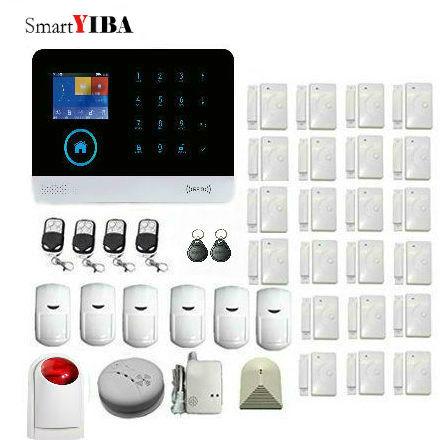 SmartYIBA 3G WIFI IOS Android APP Control Home Security Alarm System Smart House Fire/Smoke Alarm Gas Sensor Strobe Siren Kits
