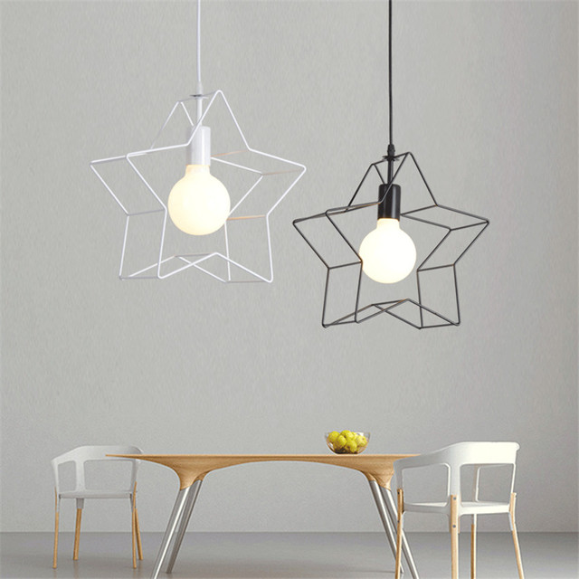 Nordic retro iron led pendant lightcreative star pendant lamp for nordic retro iron led pendant lightcreative star pendant lamp for bar coffee bedroom hanging aloadofball Images
