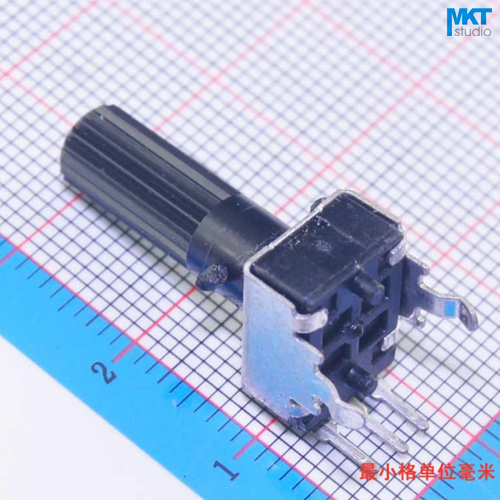 100Pcs 10K(103) Ohm B-Type Linear 18mm Shaft Rotary Potentiometer Trimmer,Variable Resistor wirewound ceramic potentiometer linear rheostat resistor 150w 30 ohm