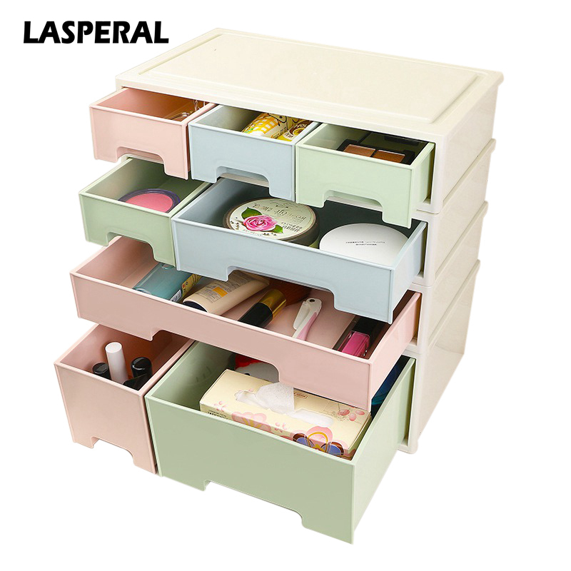 1Pcs Cosmetic Jewelry Box Drawer Desktop Holder Sundries Container Box Creative Combinable Desktop Storage Box Makeup Organizer
