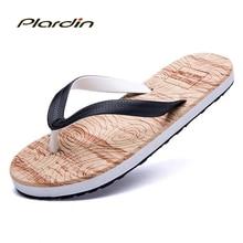 Plardin 2017 Fresco Flip Flop Sandalias de Playa De los hombres Sandalias de Verano Flip Flop Zapatos Hombre de los hombres Ocasionales