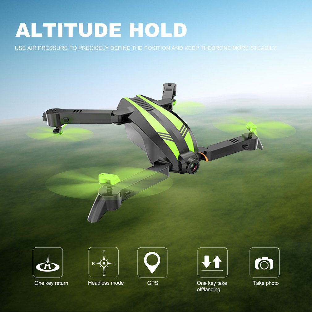 RC Quadcopter Camera Selfie-Drone Profissional Wifi Foldable Mini FPV Toywith Wide-Angle