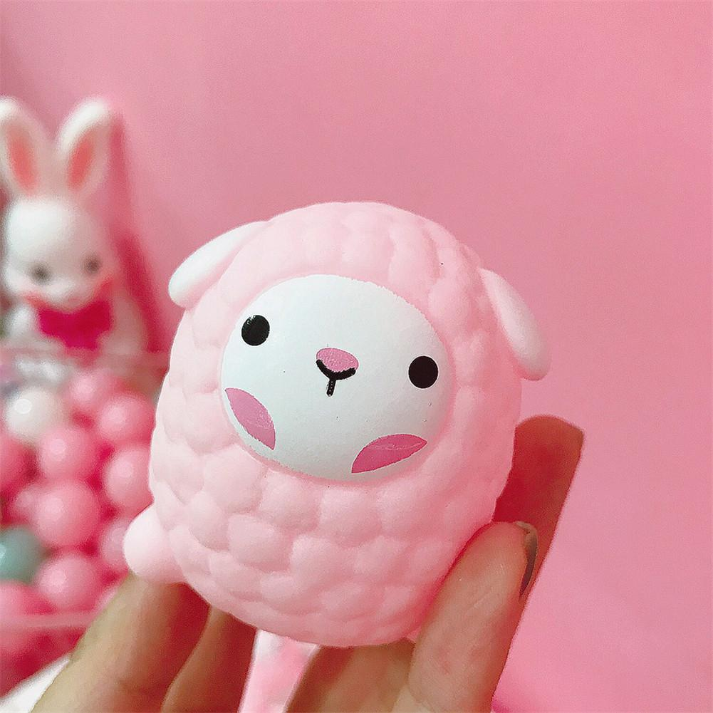 Squishy Toys Relieve Stress Cute Little Sheep Shape Squeezing Sound Decompression Water Play Toy For Baby Random Emojis