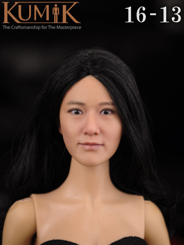 KUMIK 16-13 1:6 Scale female Figure accessories head shape carved for 12 Action figure doll,not include clothes;body and other