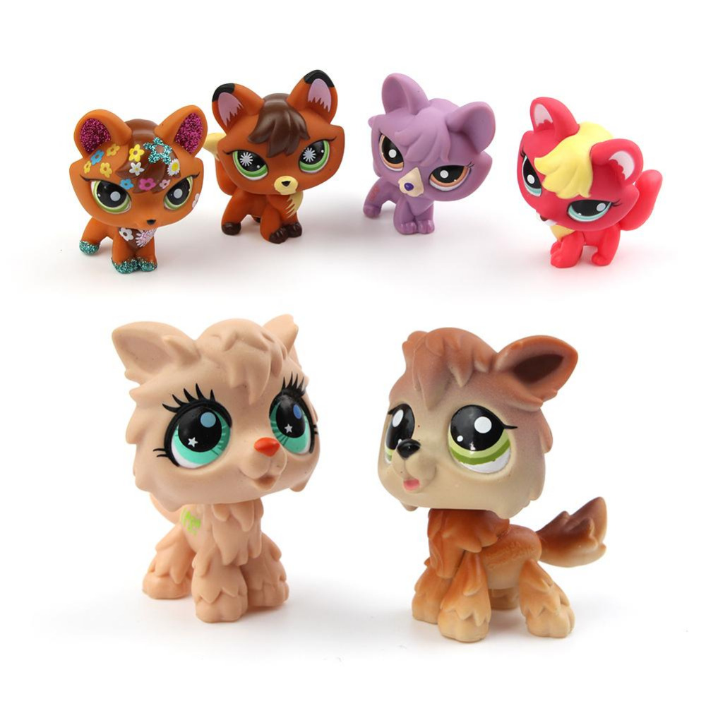 Lovely Genuine Pet dog Collection LPS Action Figure Original  Many Pet Shop Dogs Kids Gifts 8 styles lps new style lps toy bag 32pcs bag little pet shop mini toy animal cat patrulla canina dog action figures kids toys