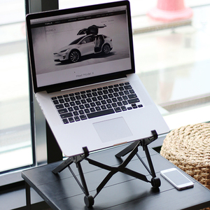 Image 1 - Adjustable Laptop Stand Portable Folding Laptop Holder Rack Simple Laptop Stand for MacBook Notebook Pad Office Supplies 1 PC