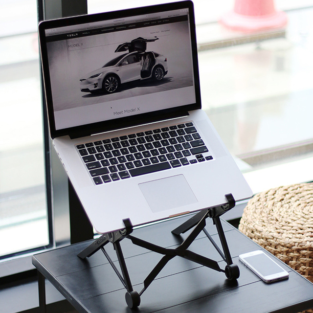 Adjustable Laptop Stand Portable Folding Laptop Holder Rack Simple Laptop Stand for MacBook Notebook Pad Office Supplies 1 PC